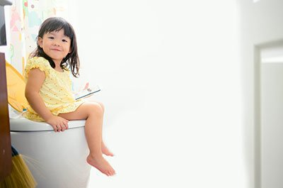 toddler on the potty