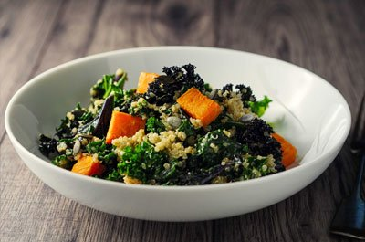 bowl of kale and quinoa
