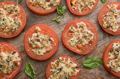 Parmesan and Herb Broiled Tomatoes