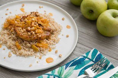 Curried pork with apples recipe video
