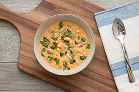 Creamy Tomato and Corn Soup with White Beans Recipe