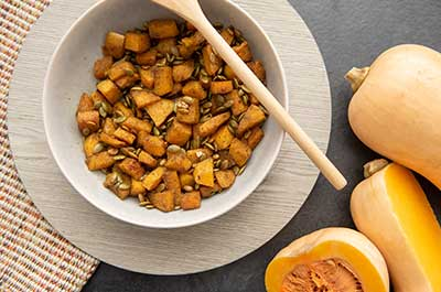 Roasted Butternut Squash with Spicy Pepitas Recipe Video