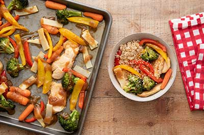 Sheet-Pan Chicken and Veggie Stir-fry Recipe Video