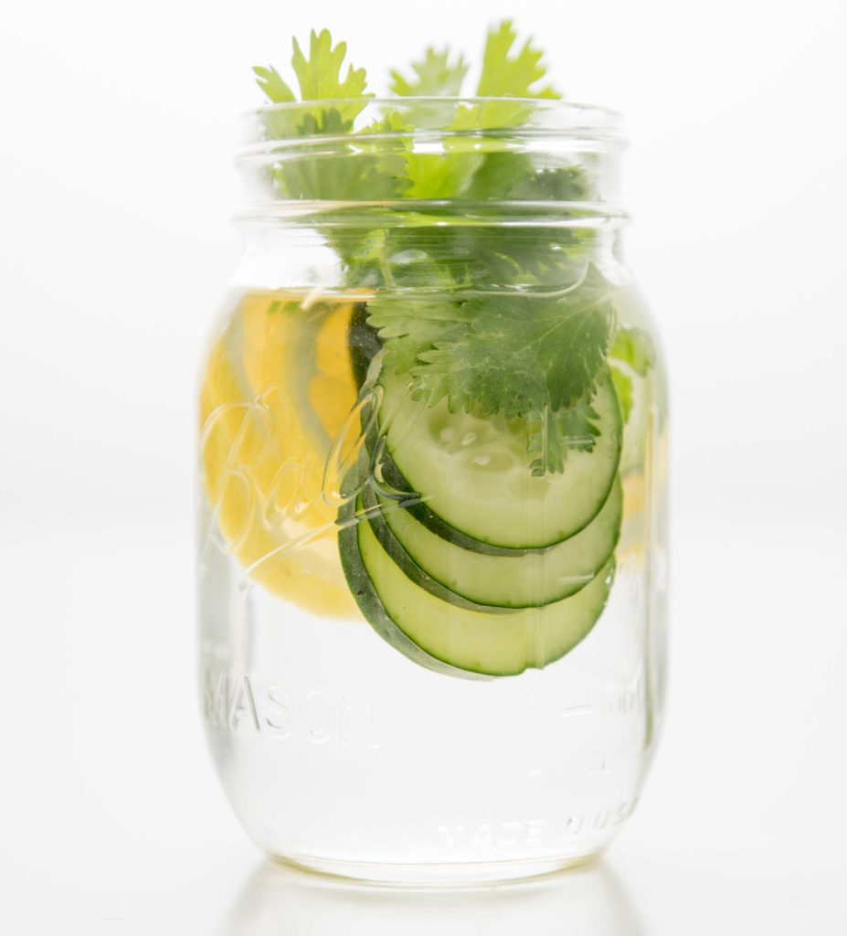 infused waters cucumber lemon cilantro e1530560617878 927x1024