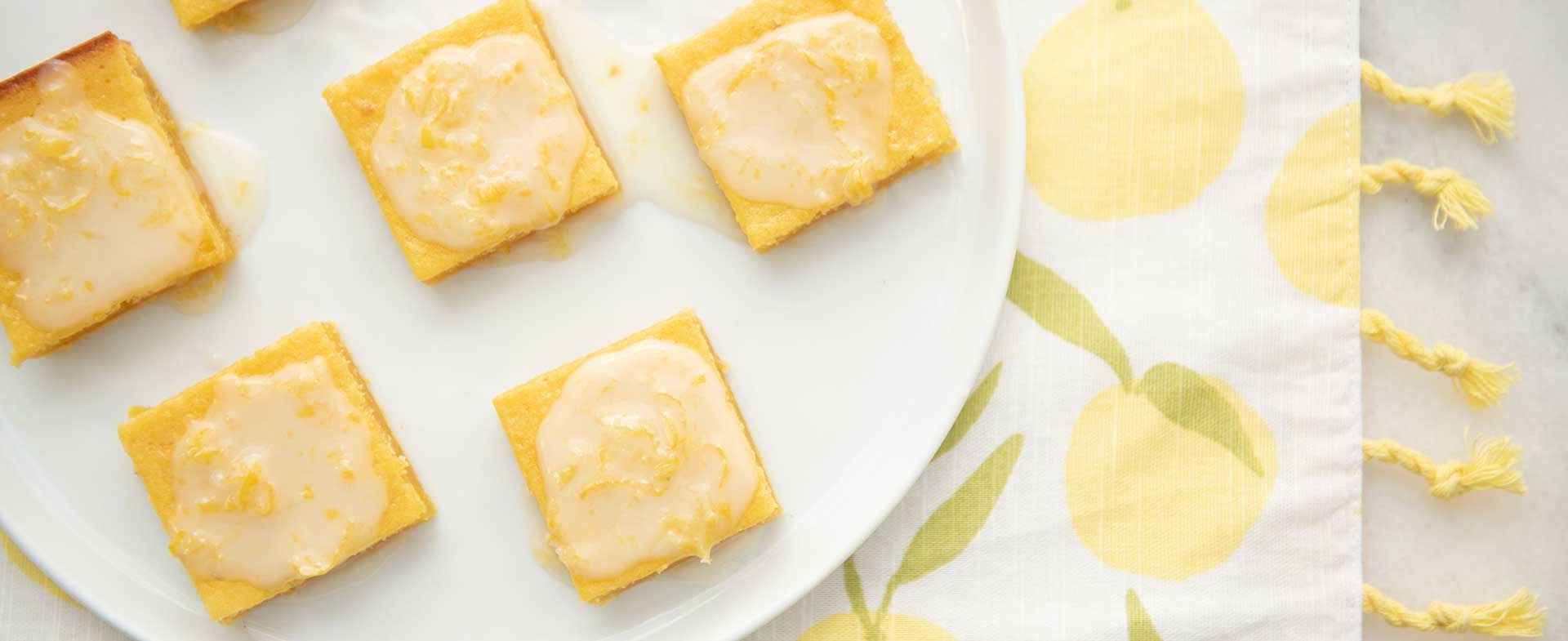 lemon brownie bites