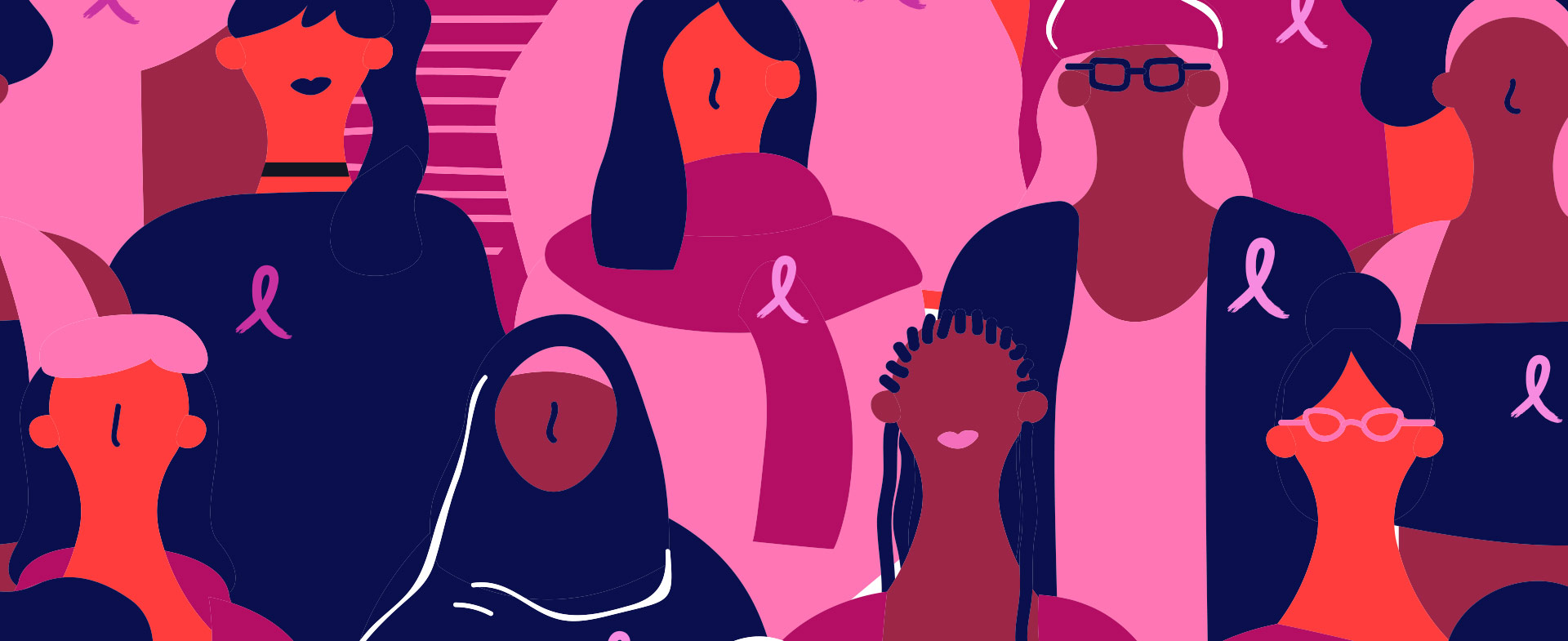 illustration of breast cancer survivors