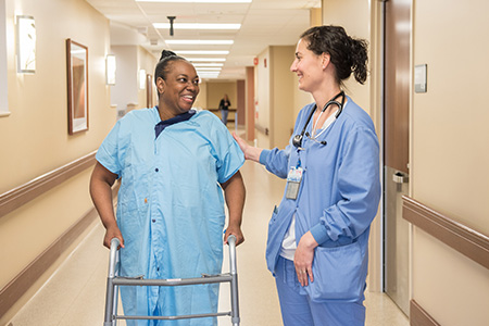 annual report nurse talking to patient