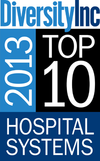 DiversityInc top 10 Hospital Systems award 2013