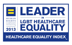 Human Rights Campaign Foundation Leader in LGBT Healthcare Equality award 2013