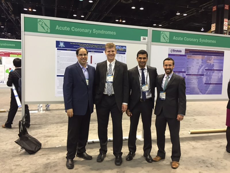 Fellows presenting their posters at the National American College of Cardiology meeting