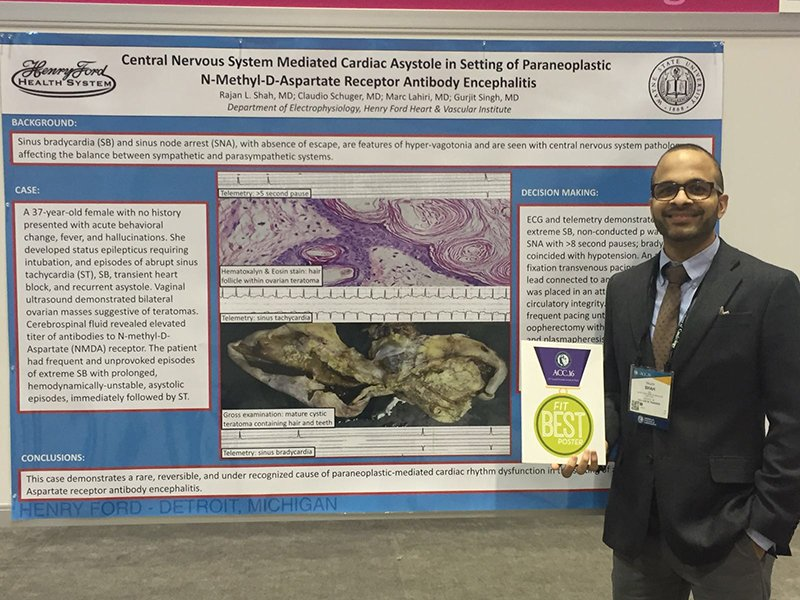 fellows winning best poster at the American College of Cardiology Scientific Sessions