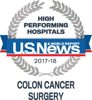 high performing hospitals logo colon cancer
