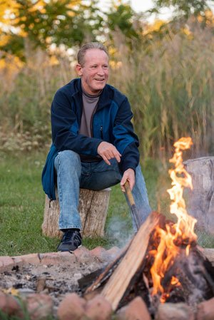 cancer patient todd by the fire