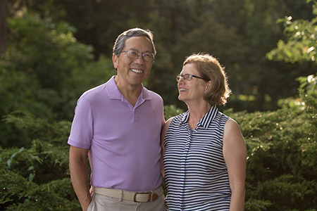 pancreatic cancer patient Jack Liang and his wife