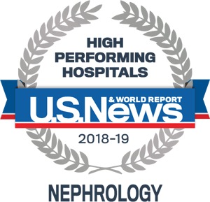 high performing hospitals logo nephrology