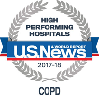 high performing hospitals logo COPD