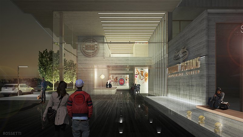 Interior pistons facility renderings at night