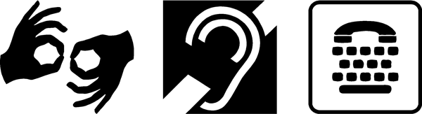 Deaf and HOH symbols