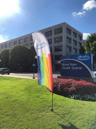 one ford place pride flag