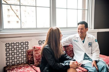 Dr Kwon with patient