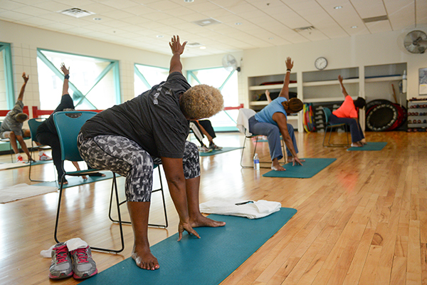 cancer patients in exercise class
