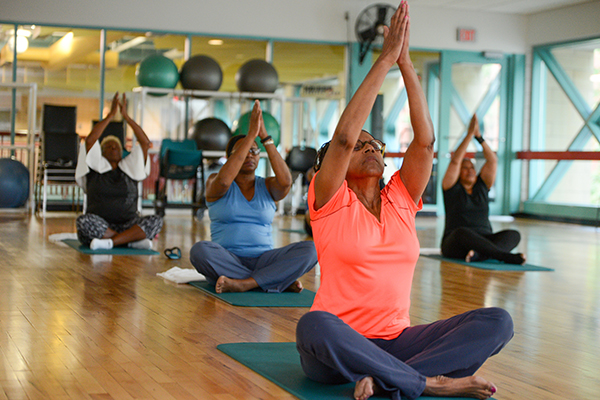 cancer patients in yoga class2